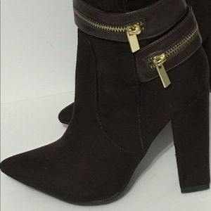 Shoes - Knee High Brown Suede Boots